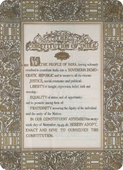 The original Preamble to the Constitution of India